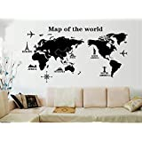 World Map Fresh Style Wall Sticker Livingroom Background Decor Mural Decal Wall Paper