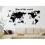 ملصق حائط على شكل خريطة العالم الجديد لديكور خلفية غرفة المعيشة، ملصق جداري