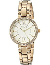 Women's Quartz Stainless Steel and Alloy Casual Watch, Color:Gold-Toned (Model: ZR34424)