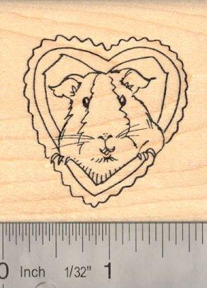 Guinea Pig Valentine Rubber Stamp