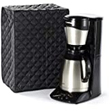 CoverMates – Coffee Maker Cover – 17W x 11D x 15H – Diamond Collection – 2 YR Warranty – Year Around Protection - Black