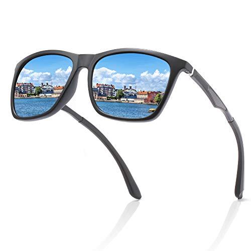 FAGUMA Polarized Sunglasses For Men Rectangular Aluminum Driving Mens Sunglasses