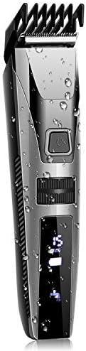 Cortapelos Impermeable con Peine-guía Todo en 1 Cortadora de Pelo con Pantalla LED Maquina Cortar Pelo Profesional Batería Recargable