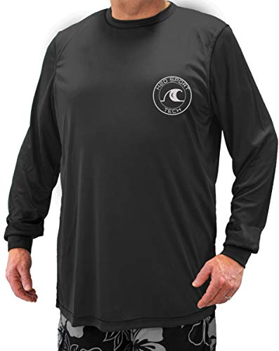 H2O Sport Tech Swim Shirt - Long Sleeve Black 4XL #908A