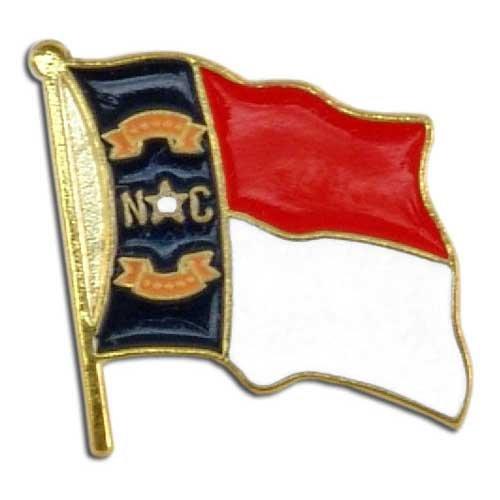 US Flag Store Lapel Pin North Carolina Flag