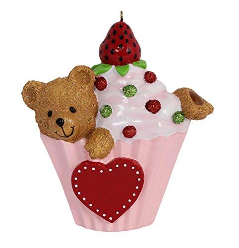 (Personalized Bear Cupcake Ornament)