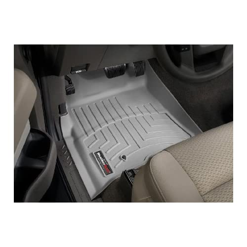 Top 2009-2012 Ford F-150 Super Crew Grey Weathertech Floor Liner (Full Set) [Single Floor Hook]
