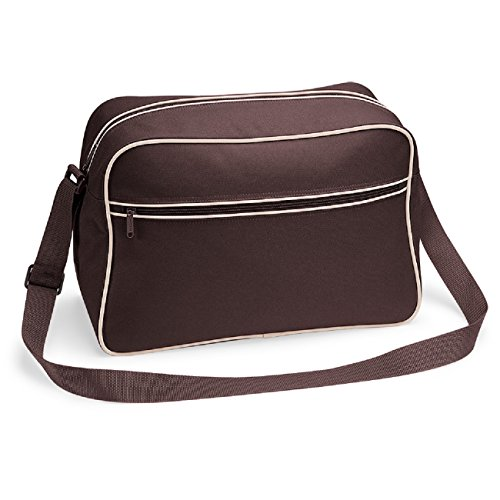 Chocolate Bagbase Brown 11 Sand En Reporter Sac Rétro Couleurs ff0gq
