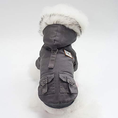 Au Temps Résistant Vêtements m Costume Froid Guardgal Petit Gris Vert Mode Vent Chien Pour Manteau Moyen D'hiver De Épais Durable Chaud 8WwPq0