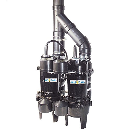 (BurCam 400505TWP Cast Iron Duplex Sewage Pumps with Vertical Float)