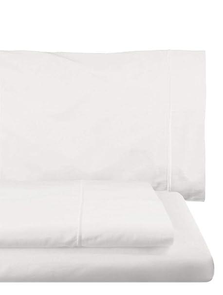 Home Royal - Juego de sábanas Compuesto por encimera, 180 x 285 cm, Bajera Ajustable, 108 x 200 cm, Funda para Almohada, 45 x 130 cm, Color Blanco