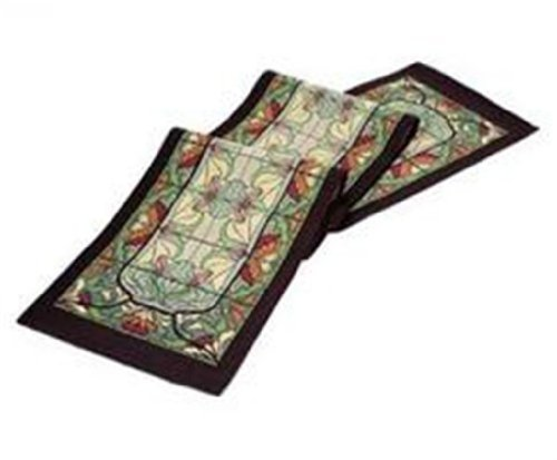 (Rennie & Rose Collection 76-Inch Table Runner, Thistle and Rose Bud)