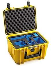 B&W Outdoor Case hardcase case type 2000, inlay voor: GoPro Hero 9 accessoires en actiecamera GoPro Hero 9 zwart, Hero 9 (hardcase, waterdichte koffer IP67, binnenmaat 25x17,5x15,5cm, geel)