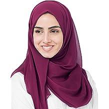 InEssence© New Rhododendron Red PolyChiffon Scarf Ladies Wrap Hijab Maxi Size