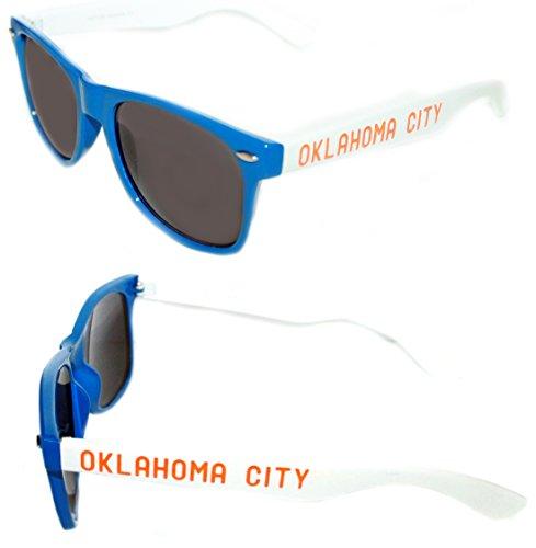 Mens Womens Oklahoma City Blue white OKC Clear Lens Eye - Okc Sunglasses