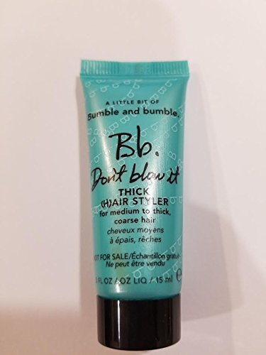 Bumble and Bumble Don't Blow It THICK Mini Travel Size .5 Oz