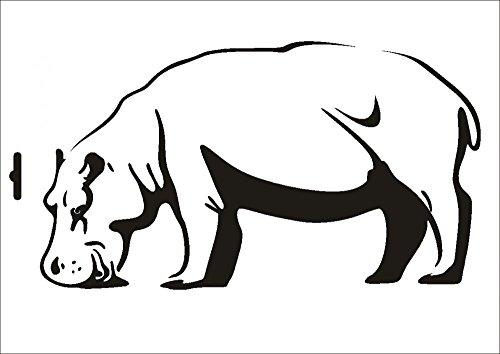 UMR-Design W-083 Hippo Textil- / wallstencil Size A4