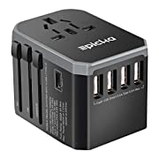 EPICKA Universal Travel Adapter One International Wall Charger AC Plug Adaptor with 5.6A Smart Power and and 3.0A USB…