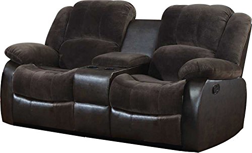Cheap NHI Express Aiden Motion Loveseat & Console (1 Pack), Peat