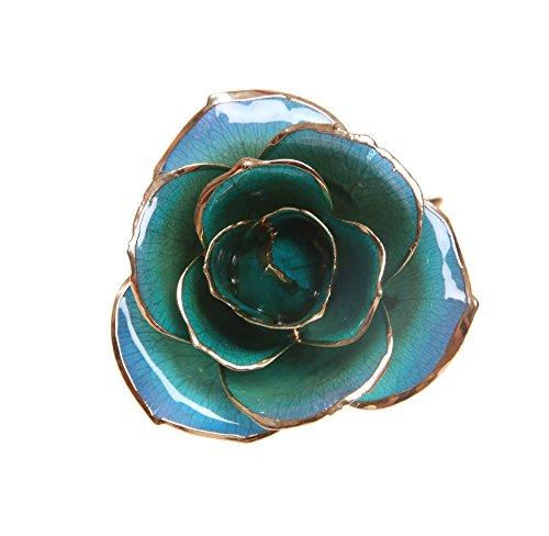Durarose everlasting long stem purple blue rose dipped for Blue long stem roses