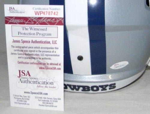 Sean Lee Autographed Helmet Full Size Speed JSA Certified Autographed NFL Helmets