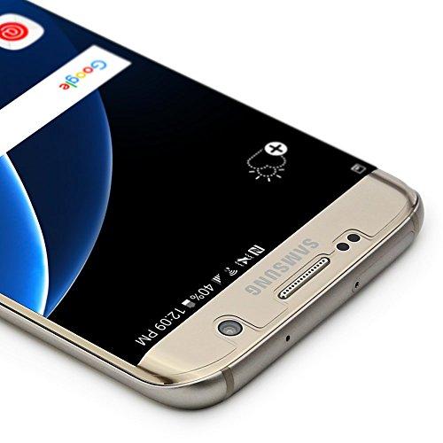 Armorsuit MilitaryShield - Protector de pantalla para Samsung Galaxy S7 Edge [Case Friendly] con reemplazos de por vida - Protector de pantalla anti-burbuja Ultra HD para S7 Edge - Transparente