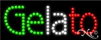Gelato Non Flashing LED Window Sign
