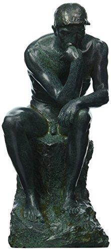 (Design Toscano Rodin's Thinker Man Statue, Medium, 10 Inch, Polyresin, Bronze Verdigris Finish)