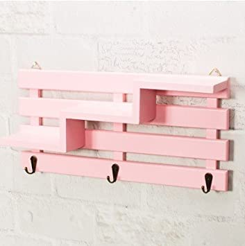 Su @ da Vintage madera maciza tres estantes perchero de ...