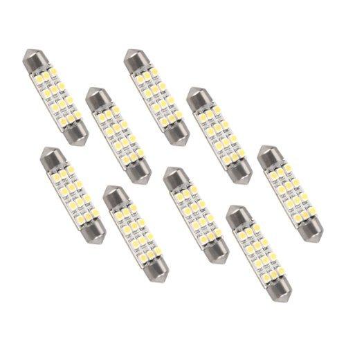 10 X Ampoule Lampe Festoon Lumiè re Blanc 3528SMD 12 LED Voiture Auto Moto 41mm Goldwinge