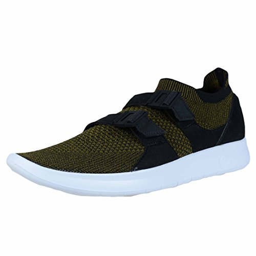 NIKE Mens Air Sockracer Flyknit Black/Olive Flak-Black-White 898022-002 Shoe 12 M US Men gWvvTK6