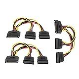 15 Pin SATA Male to Dual 15 Pin SATA Splitter Female Power Cable 3 Pcs