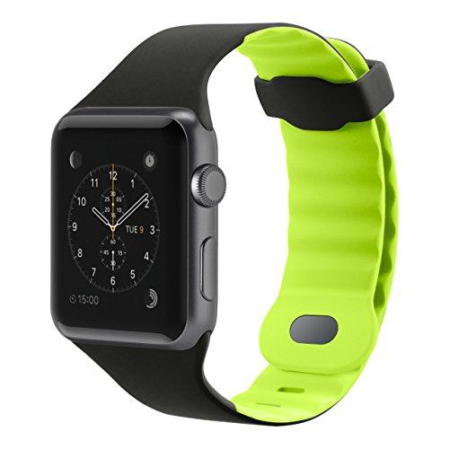 Belkin Sport Band for Apple Watch (42mm/44mm) - Apple Watch Sport Band for Apple Watch Series 4, 3, 2, 1 (Apple Watch Wristband), Citron - Silicone Belkin Black