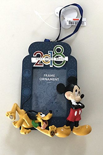 Walt Disney World Mickey Mouse Pluto 2018 Photo Frame Ornament with Back - Disney Frames World