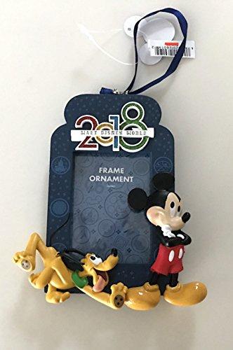 Walt Disney World Mickey Mouse Pluto 2018 Photo Frame Ornament with Back - Frames Disney World