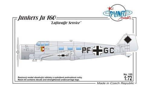 Planet Models 155 Junkers Ju 160 1:72