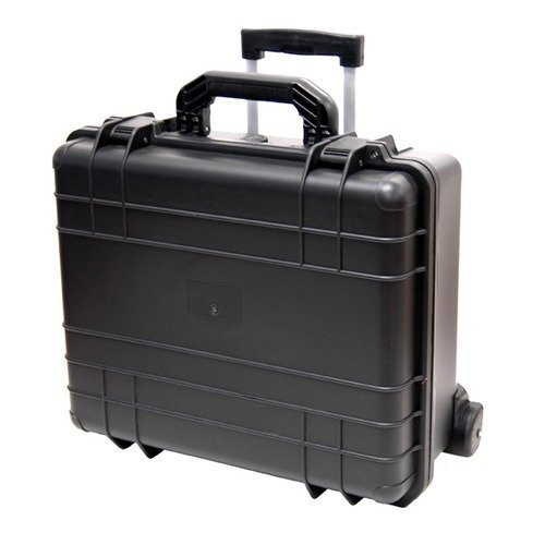 T.Z. Case 7'' Bottle Wine Wheeled Hard-Sided Transport Case in Black