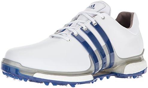 adidas Men's Tour 360 2.0 Golf Shoe, White/Royal/Silver Metallic ...