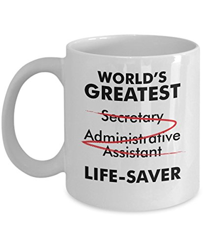 World's Greatest Secretary Life Saver Funny Appreciation Gift Idea Mug