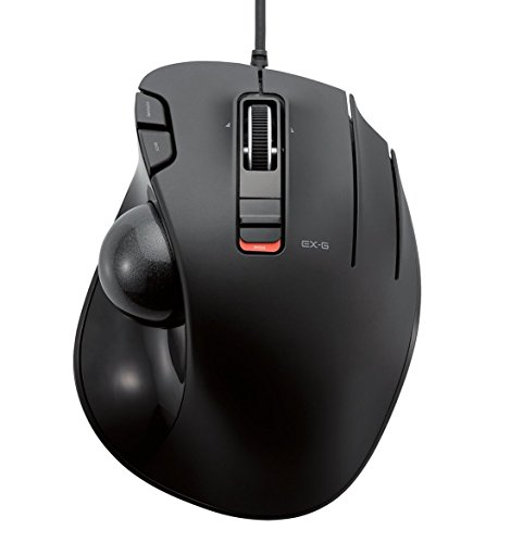Usb Scroll Ball Mouse (ELECOM M-XT3URBK Mouse Wired Trackball grip 6 button, Black)
