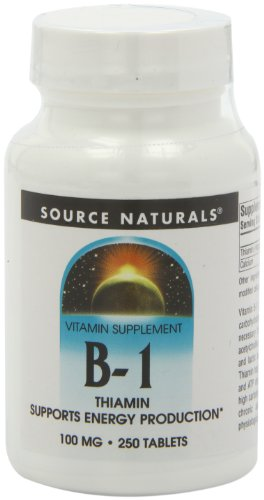 Source Naturals Vitamin B-1 100mg, 250 Tablets
