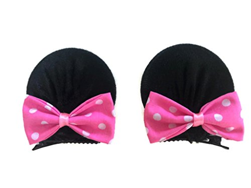 MeeTHan Minnie Mouse Clips Ears Baby Elastic Hair Clips Costume Accessory :M12 (Minnie clip 7 cm) - Kangaroo Costume For Mom And Baby