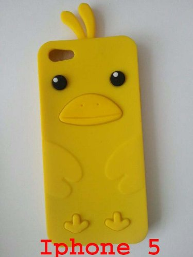 Huhn Gelb Iphone 5G Silikon Schutzhülle Tasche Case Cover plt24
