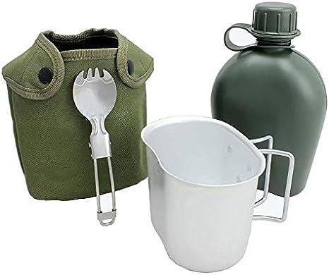Begrit 1quart extérieur bouilloire Canteen kit avec couvercle de tasse et en aluminium pour randonnée Camping