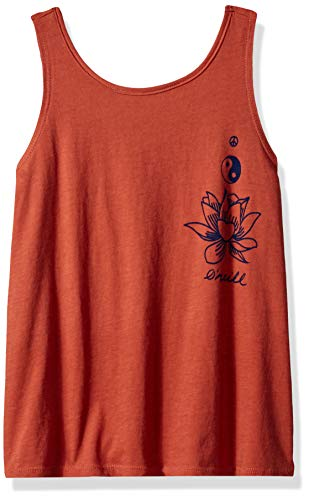 (O'Neill Girls' Radiance Graphic Screen Print Tank Top, Etruscan red,)