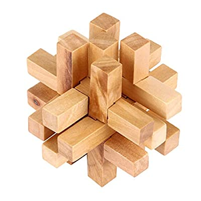 Wooden Intelligence toy Wooden Adult Educational Toys Recreational Toys Fourteen Lock kids toys Early Education Wood Toys: Everything Else