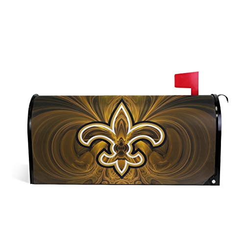 TSWINW Oversized Magnetic Mailbox Cover New Orleans Arrow Pattern Standard Size Mail Wrap for Outside Garden Home Decor Mailbox Cover Letter Post Box Cover