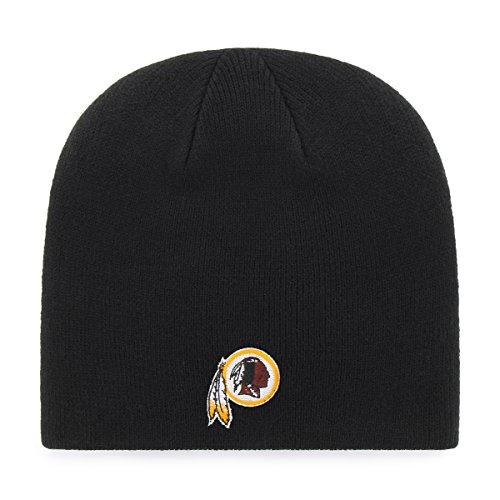 NFL Washington Redskins OTS Beanie Knit Cap, Black, One (Washington Redskins Cap)