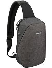Sling Bag, Crossbody with Headphone Port Water Resistant Bags Men Women