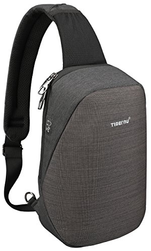 Tigernu Sling Bag, Crossbody with Headphone Port Water Resistant Bags Men Women